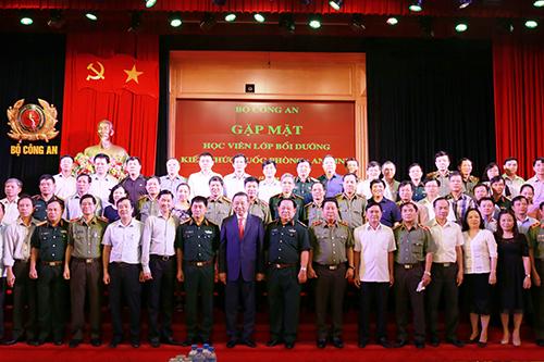 Bộ Công an gặp mặt BGĐ Học viện Quốc phòng và các học viên Lớp Bồi dưỡng kiến thức QP-AN