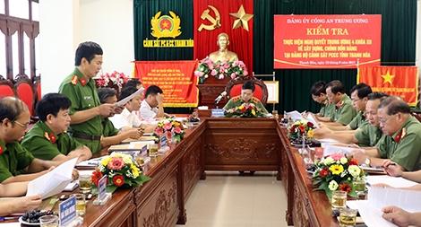 Kiểm tra thực hiện NQ Trung ương 4 tại Cảnh sát PCCC Thanh Hóa