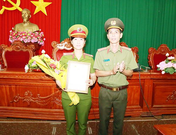 Nữ Cảnh sát duy nhất lực lượng Công an nhận giải thưởng Môi trường