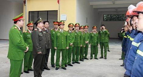 Lãnh đạo Bộ Công an kiểm tra công tác PCCC tại Hà Nội