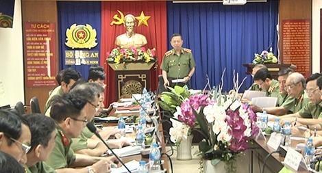 Bộ trưởng Tô Lâm chỉ đạo công tác đảm bảo  ANTT tại các tỉnh phía Nam