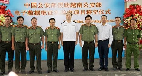 Khánh thành phòng lab do Bộ Công an Trung Quốc viện trợ