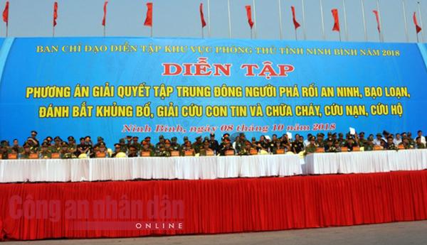 Thứ trưởng Bùi Văn Nam dự diễn tập phương án giải quyết phá rối an ninh - Ảnh minh hoạ 2