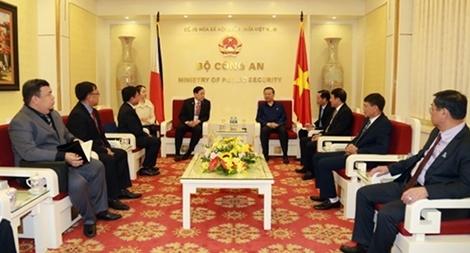Việt Nam – Philippines tăng cường hợp tác trong lĩnh vực phòng, chống tội phạm