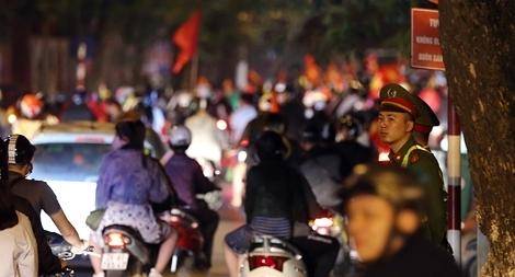 Công an thủ đô đảm bảo ANTT sau chiến thắng của tuyển Việt Nam