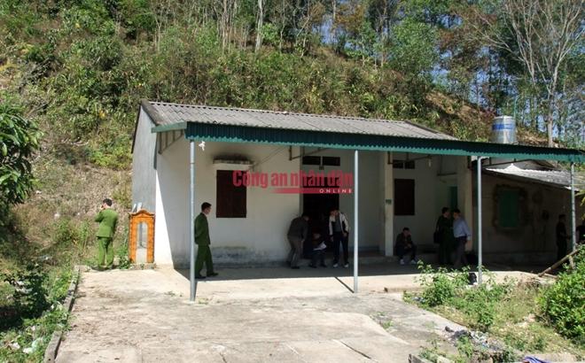 Căn nhà hoang nơi phát hiện t.hi t.hể nạn nhân