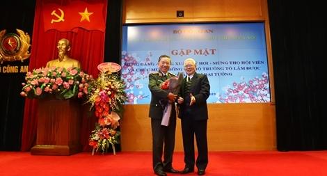 Bộ trưởng Tô Lâm dự gặp mặt đầu xuân CLB sỹ quan Công an hưu trí