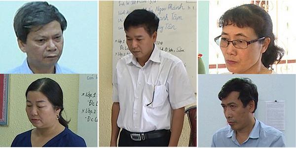 Các đối tượng bị bắt giữ liên quan đến gian lận điểm thi tại Sơn La.