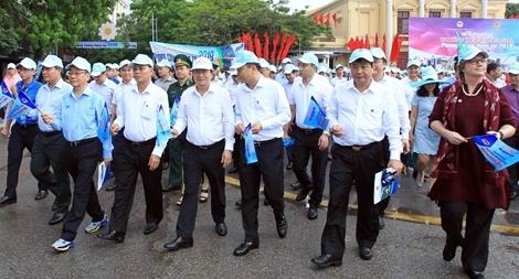 Mít tinh hưởng ứng tuần lễ quốc gia về phòng chống thiên tai