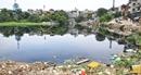 Hồ Linh Quang vẫn ô nhiễm bởi rác thải và phế liệu xây dựng