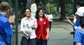 Thí sinh Hà Nội rạng rỡ sau khi hoàn thành tốt bài thi môn Toán