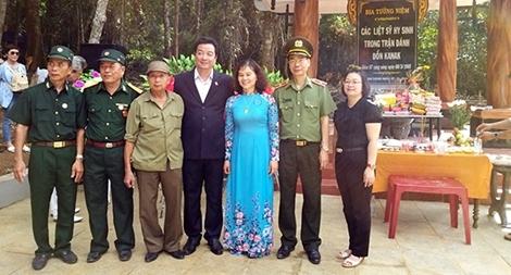 Khánh thành nhà bia tưởng niệm liệt sỹ hy sinh trong trận đồn Kanak