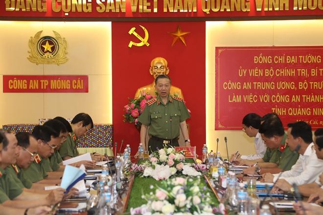 Bộ trưởng Tô Lâm làm việc với Công an TP Móng Cái - Ảnh minh hoạ 3
