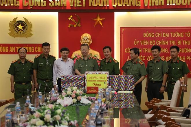 Bộ trưởng Tô Lâm làm việc với Công an TP Móng Cái - Ảnh minh hoạ 4