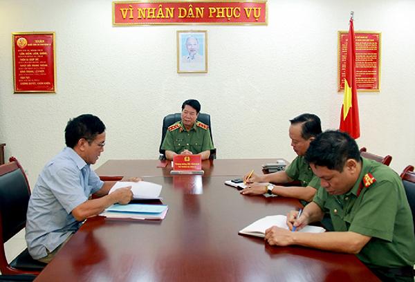 Lãnh đạo Bộ Công an tiếp công dân định kỳ tháng 9-2019