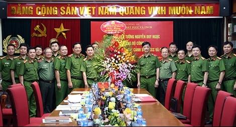 Thứ trưởng Nguyễn Duy Ngọc làm việc với Cục Cảnh sát PCCC và CNCH