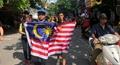 CĐV Malaysia khuấy động đường phố Hà Nội trước giờ thi đấu