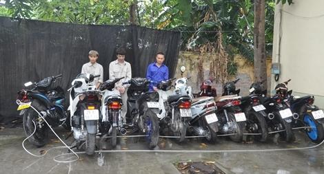 Băng trộm xe máy chuyên nghiệp sa lưới