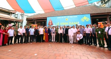 Vinh danh và trao thưởng khuyến học dòng họ Vũ – Võ Việt Nam