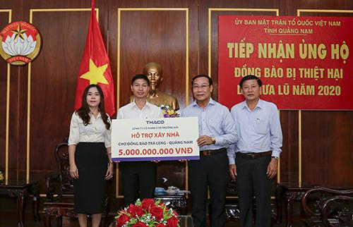 Thaco hỗ trợ xây dựng lại ngôi làng cho đồng bào Trà Leng- Quảng Nam