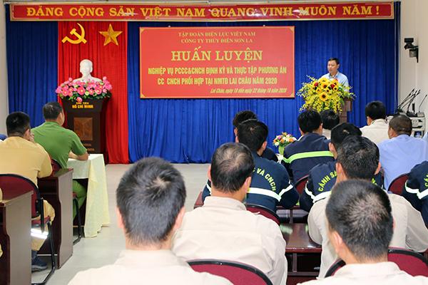 Diễn tập phương án chữa cháy, cứu nạn, cứu hộ tại Nhà máy thủy điện Lai Châu