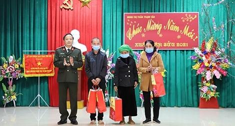 Công an tỉnh Yên Bái kiểm tra, chúc Tết tại huyện Trạm Tấu
