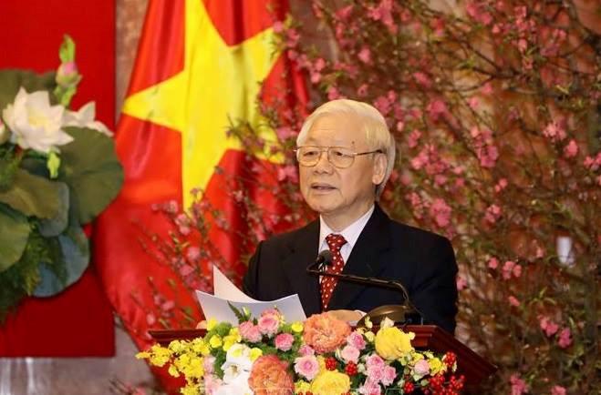 Tổng Bí thư, Chủ tịch nước Nguyễn Phú Trọng chúc Tết đồng chí, đồng bào