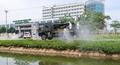 Bộ đội hóa học phun khử trùng Bệnh viện Bệnh nhiệt đới Trung ương