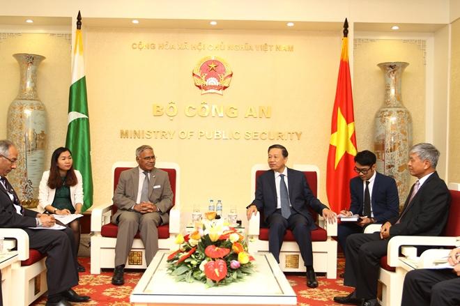 Việt Nam và Pakistan tăng cường hợp tác trong lĩnh vực an ninh