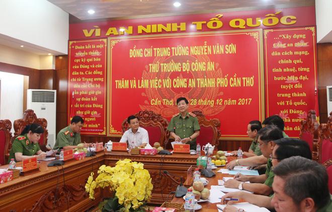 Thứ trưởng Nguyễn Văn Sơn thăm, kiểm tra công tác tại TP Cần Thơ