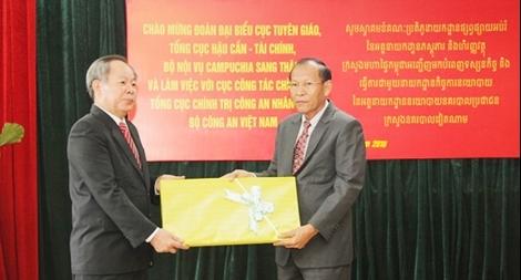 Công an Việt Nam và Campuchia trao đổi kinh nghiệm về công tác báo chí, xuất bản, bảo tàng