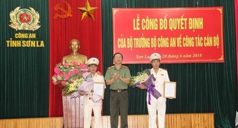 Công an tỉnh Sơn La công bố quyết định về công tác cán bộ