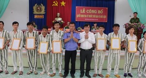 Trại giam An Phước và Công an tỉnh Thừa Thiên - Huế tha tù trước thời hạn cho phạm nhân