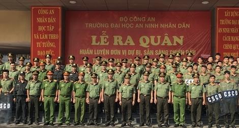 Ra quân huấn luyện đơn vị dự bị chiến đấu Đại học ANND