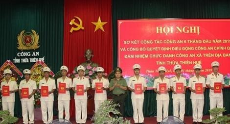 Công an Thừa Thiên Huế điều động Công an chính quy đảm nhiệm chức danh Công an xã