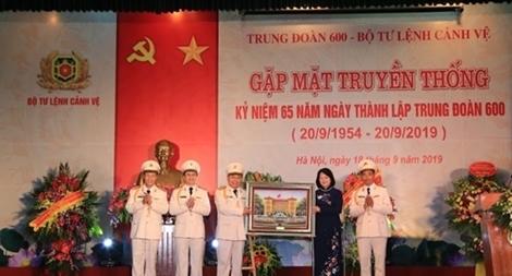 Trung đoàn 600 - Bộ Tư lệnh Cảnh vệ kỉ niệm 65 năm ngày thành lập