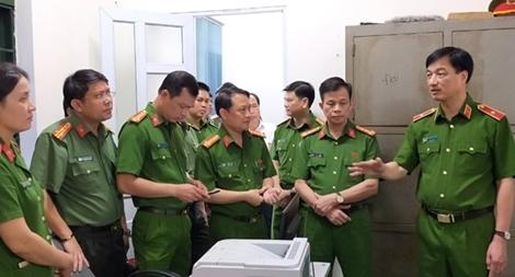 Thứ trưởng Nguyễn Duy Ngọc kiểm tra công tác tại Công an Thanh Hóa