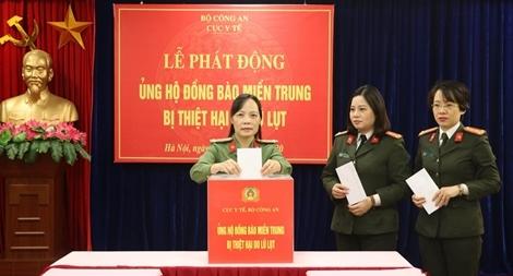 Cục Y tế phát động ủng hộ đồng bào miền Trung