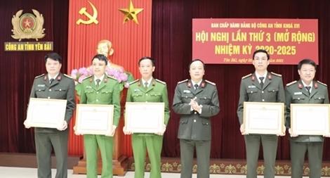 Đảng bộ Công an tỉnh Yên Bái: Nhiều tập thể, cá nhân được khen thưởng
