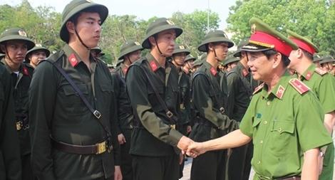 Gần 2 nghìn chiến sĩ Công an nghĩa vụ tham dự khóa huấn luyện chiến sĩ mới
