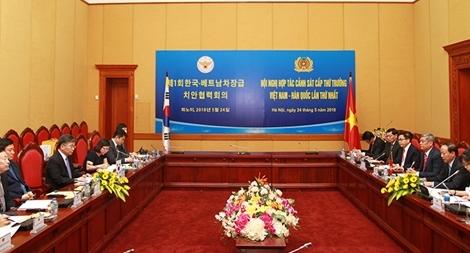 Việt Nam - Hàn Quốc tăng cường hợp tác trong lĩnh vực phòng, chống tội phạm