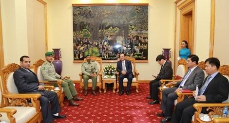 Thứ trưởng Nguyễn Văn Thành tiếp Đoàn tiền trạm của Lực lượng Vệ binh Quốc gia Kuwait