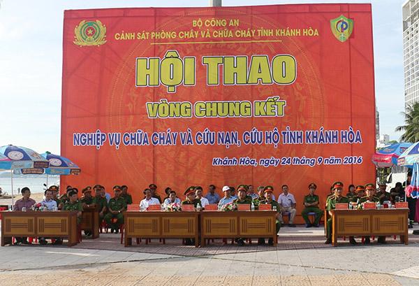 Chung kết hội thao nghiệp vụ PCCC tỉnh Khánh Hòa