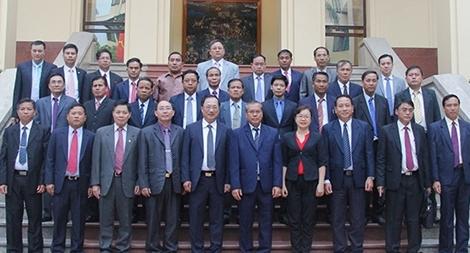 Thứ trưởng Nguyễn Văn Thành tiếp xã giao Đoàn An ninh 6 tỉnh Bắc Lào