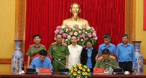 Bộ Công an ký Quy chế phối hợp với Tổng Liên đoàn Lao động Việt Nam1