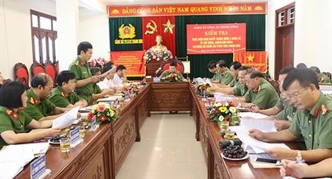 Kiểm tra thực hiện Nghị quyết TƯ 4 khóa XII tại Cảnh sát PCCC tỉnh Thanh Hóa
