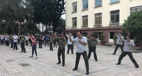 Các đơn vị trực thuộc Tổng cục Chính trị CAND tập huấn điều lệnh, võ thuật