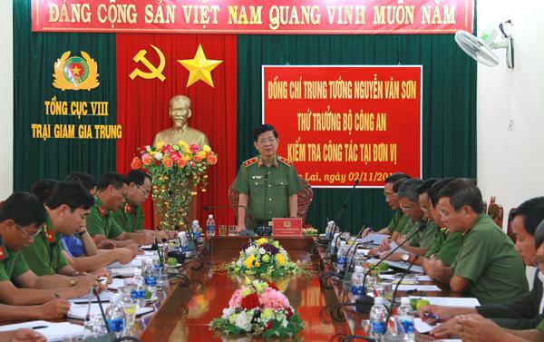 Thứ trưởng Nguyễn Văn Sơn thăm và làm việc tại Công an Kon Tum và Trại giam Gia Trung - Ảnh minh hoạ 6