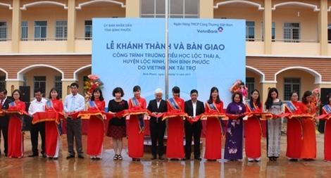 Khánh thành trường tiểu học nơi biên giới do VietinBank tài trợ xây dựng