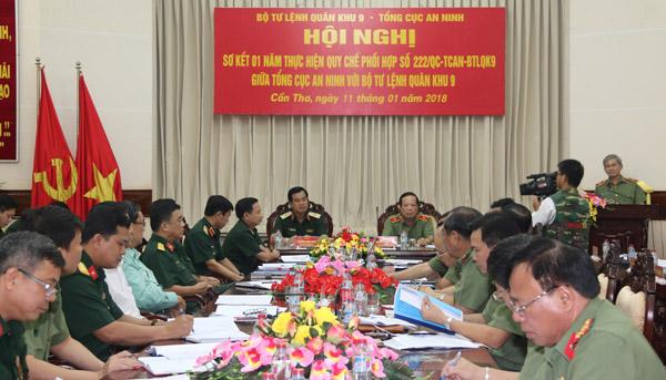 Nâng cao quy chế phối hợp giữa Tổng cục An ninh và Bộ Tư lệnh Quân khu 9